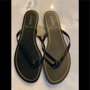JCrew leather flat flip flop